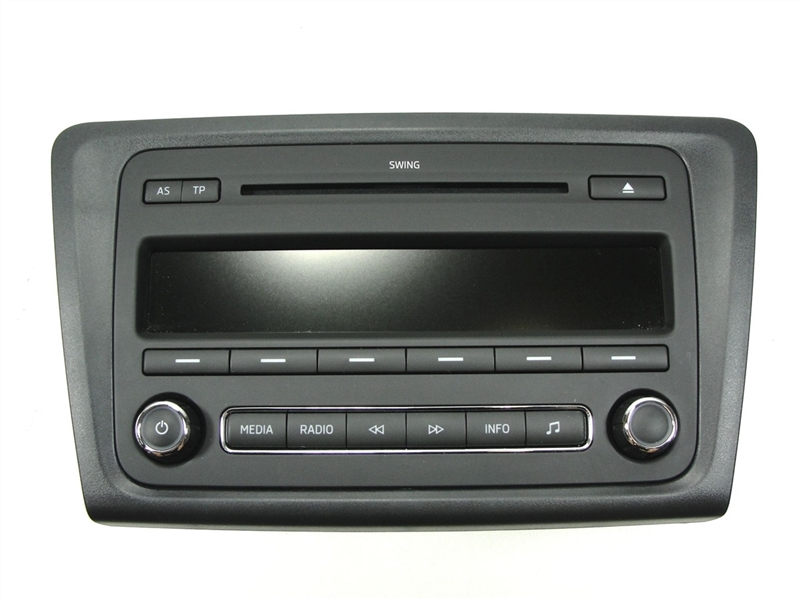 skoda rapid autoradio radio swing cd mp3 5j0035161f 11300. Black Bedroom Furniture Sets. Home Design Ideas