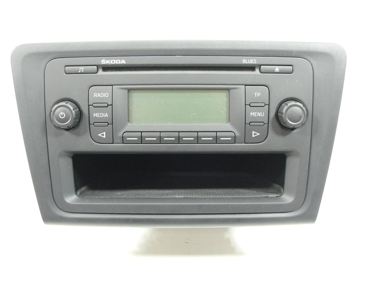 skoda rapid cd mp3 radio blues autoradio 5j0035152b 14362. Black Bedroom Furniture Sets. Home Design Ideas