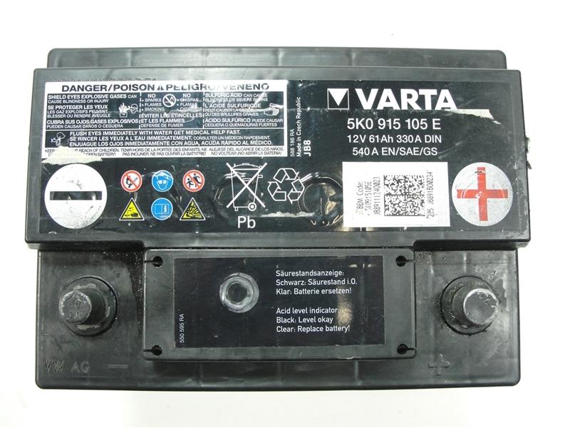vw golf 6 jetta batteria accumulatore 61ah 330a 12v. Black Bedroom Furniture Sets. Home Design Ideas